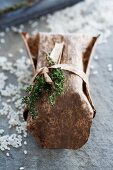 Table decoration with thyme