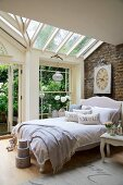 Bedroom in conservatory