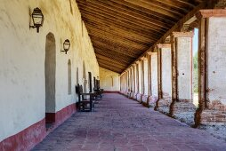 Arcade in Mission La Purisima State Historic Park, Lompoc, California