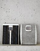 Two old sets of bathroom scales