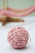 Ball of pink wool