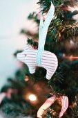 Animal figurine used as Christmas tree decoration