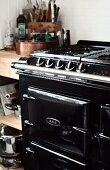 Black AGA cooker