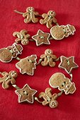 Festive gingerbread garland