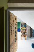 View through open door into teenager's bedroom