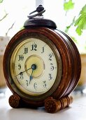 Vintage table clock with wooden frame