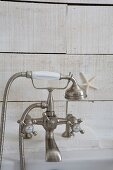 Vintage bath taps with hand spray