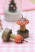 Toadstool-shaped candles