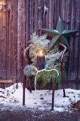 Natural Christmas decorations for the garden