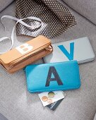 DIY – purses decorated with initials