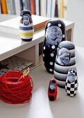 DIY – nesting dolls stuck with photos