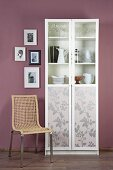 Make-over: display cabinet with revamped doors
