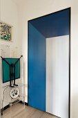 Surrealist designer pieces in hallway