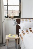 Simple bedroom in shades of shades and brown
