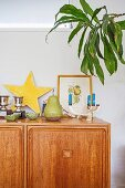 Sideboard with decorative objects