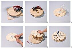 Anleitung für runde Gläserhalterung aus Holz