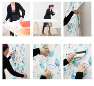 Instructions for hanging patterned wallpaper