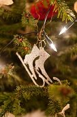 Fairy lights and Christmas-tree decorations