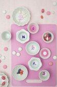Painted porcelain bonbon dishes