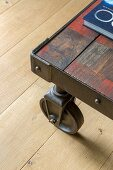 Vintage coffee table on castors