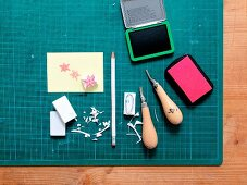 Instructions for making stamps from erasers
