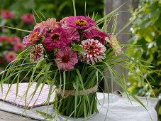Bouquet in grass cuff