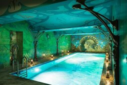 Exclusive basement swimming pool