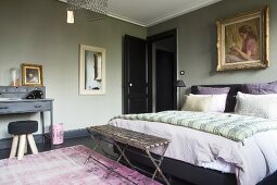 Schlafzimmer mit Vintage Flair