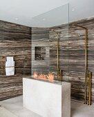 Luxury marble shower area