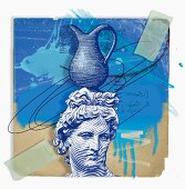 Montage of zodiac Aquarius