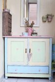 Vintage cabinet in pastel shades
