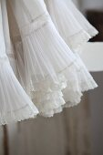 Detail of ruffles and lace