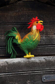 Hand-made, needle-felted, woollen cockerel