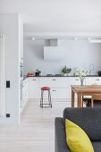 Bright, Scandinavian-style open-plan interior