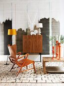 Ethnic style in retro interior