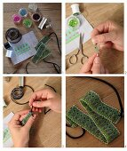 Instructions or crafting a glass-bead choker