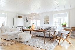 Comfortable, Scandinavian-style living room