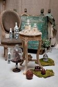 Arrangement of antiques, bottles and objets d'art