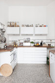 White kitchen in period apartment