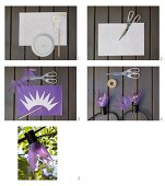Instructions for making lampshades for fairy lights from tissue paper