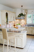 White, French-style, country-house kitchen