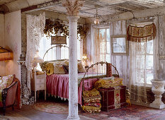Romantic bedroom with melancholy charm