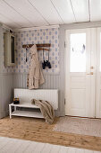 Foyer in Scandinavian country-house style in natural shades