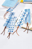 Painted bookmarks made from washi paper