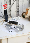 DIY-Lokomotive aus Upcycling Materialien