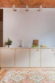 Pale kitchen counter