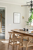 Dining table and classic chairs