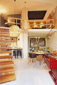Split-level loft apartment