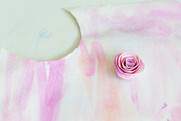 Rose made from painted paper