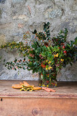 Bouquet of cotoneaster, madrone and viburnum